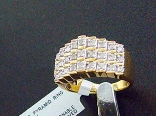 1/2 CTW. DIAMOND RING - 18K GOLD OVER STERLING