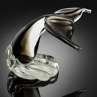 ART GLASS GRAY WHALE TAIL