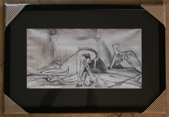 """PICASSO """"STUDY OF GUERNICA"""" - 1937"""