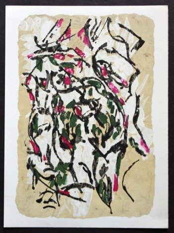 RIOPELLE ORIGINAL LITHOGRAPH 1966