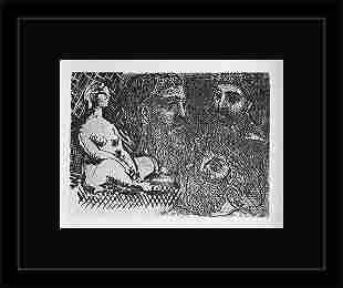 1956 ANTIQUE PICASSO LITHOGRAPH