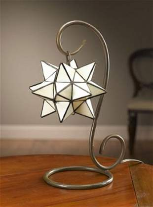 STAR STAINED GLASS LAMP - TIFFANY STYLE