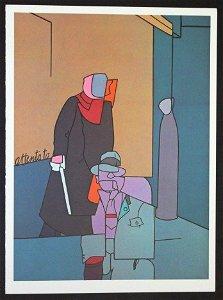 """ADAMI """"ATTENTATO I"""" 1973 ORIGINAL LITHOGRAPH"""