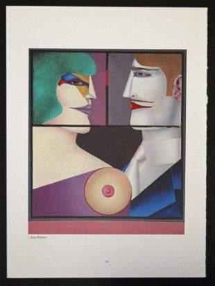 "LINDNER ""REAR WINDOW"" 1977 ORIGINAL LITHOGRAPH"