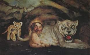 "BRAGG ""DANIEL:LIONS DEN"" HAND SIGNED GICLEE"