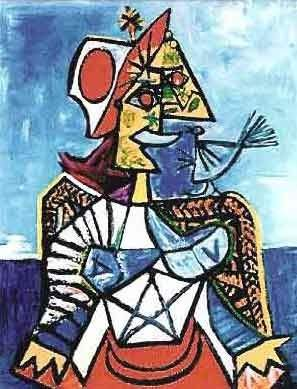 """PICASSO """"WOMAN WITH RED & WHITE HAT"""""""