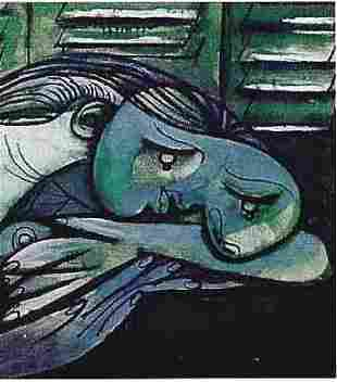 """PICASSO """"LADY WITH HEAD ON ARMS"""""""