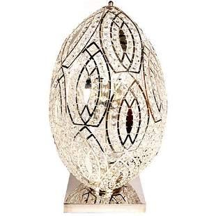 CRYSTAL EGG TABLE LAMP