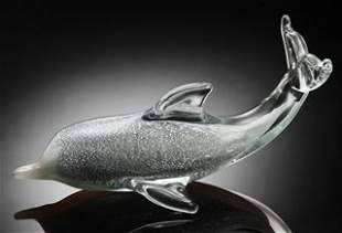 ART GLASS DOLPHIN - HAND CRAFTED