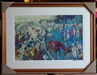"""HAND SIGNED NEIMAN """"PADDOCK AT CHANTILLY"""""""