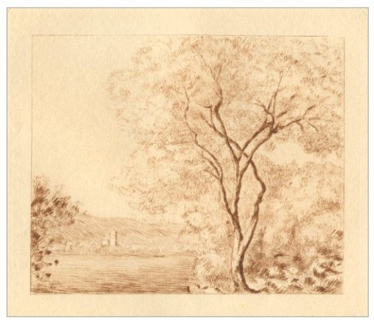 "MONET ETCHING ""PROMENADE - TEMPS GRIS"""