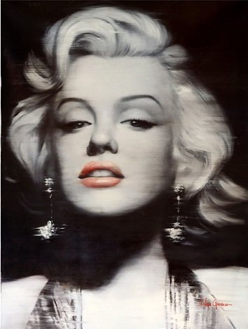 """MARILYN MONROE""  EMBELLISHED GICLEE GALLERY WRAP"