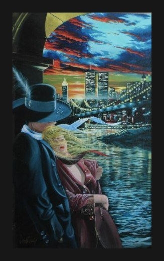 "VICTOR OSTROVSKY SIGNED GALLERY PROOF ""FAREWELL"""
