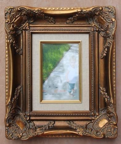 BAROQUE STYLE GOLD FINISH 4X6 PHOTO FRAME