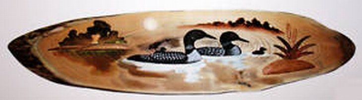 """""""LOON FAMILY"""" HAND CARVED WALL HANGING"""