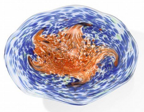 ART GLASS BOWL - UNIQUELY HAND CRAFTED