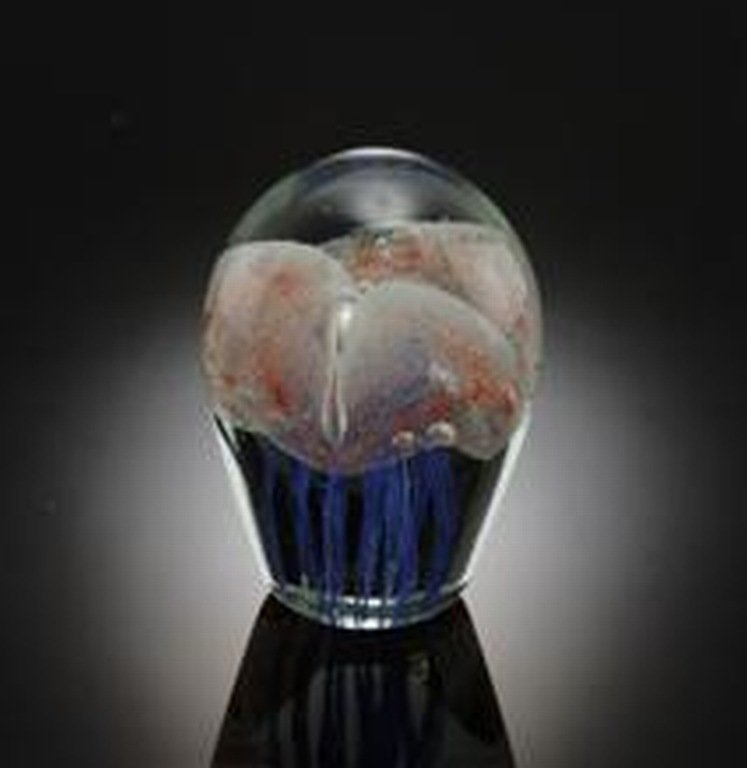 ART GLASS TRIPLE JELLYFISH