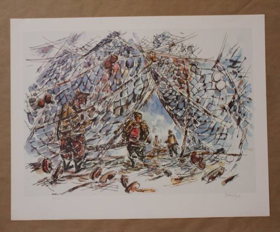 ROSS LT ED HAND SIGNED LITHOGRAPH