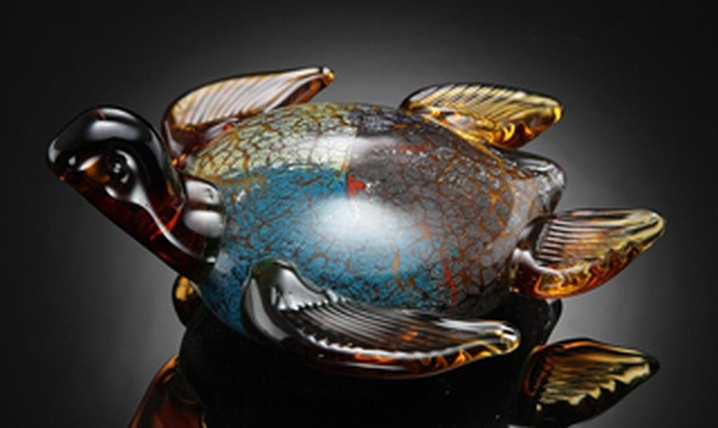 ART GLASS SEA TURTLE