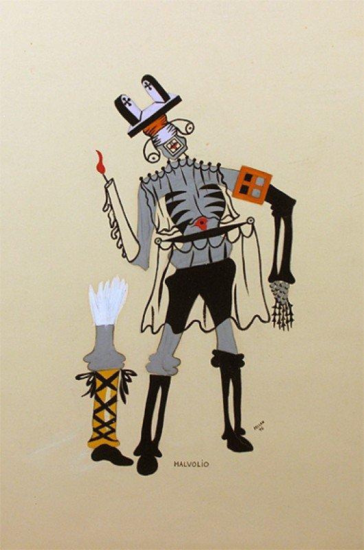 ALFRED PELLAN  (Canada, 1906 -1988) Gouache on paper