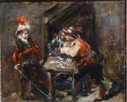 "Jean Ernest Meissonier ( France 1815-1891) attributed """