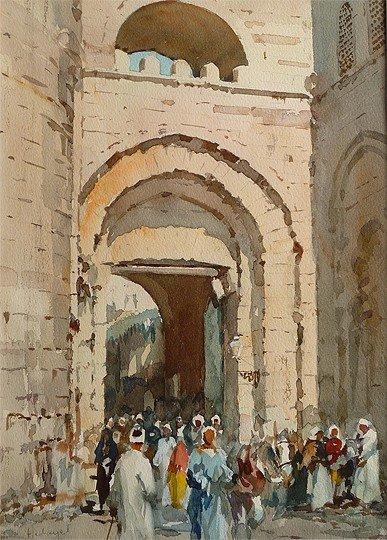 D. Hidayet (?-1972)    Watercolor
