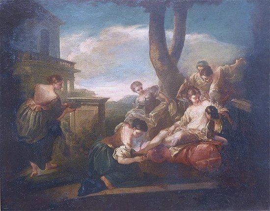 Italian Rococo style 18th/19th century Oil on Canvas