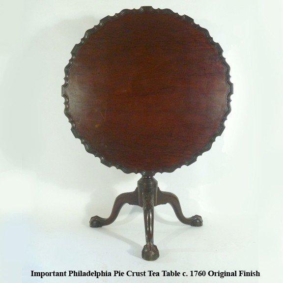 2: Rare Philadelphia  Pie Crust Tea Table