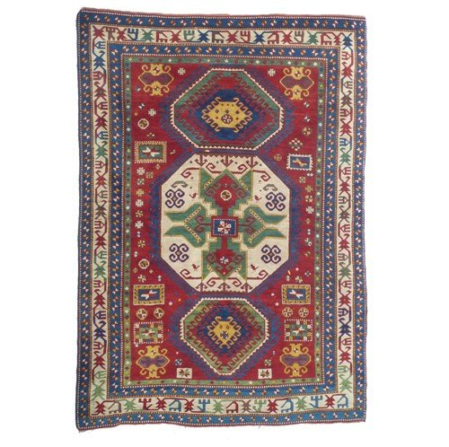 4: ANTIQUE 19th CENTURY LORI PAMBAK KAZAK RUG