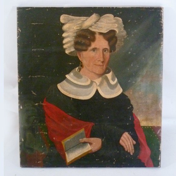 12: American School Folk Art Painting attributed to Amm