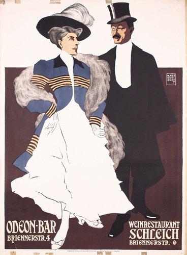 1: ORIGINAL POSTER Odeon Bar ERDT 1907