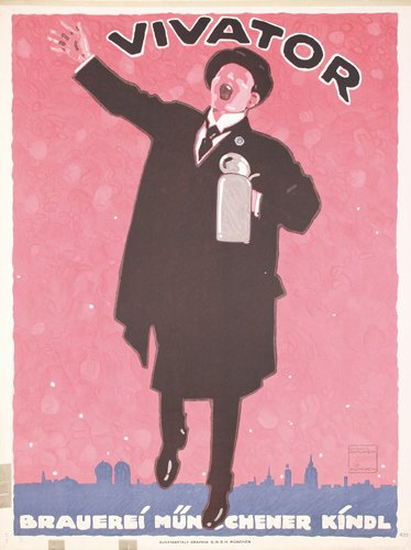 7: ORIGINAL Ludwig Hohlwein Vivator Beer Poster