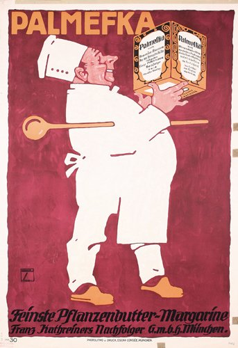 13: ORIGINAL Ludwig Hohlwein Poster 1913 Chef