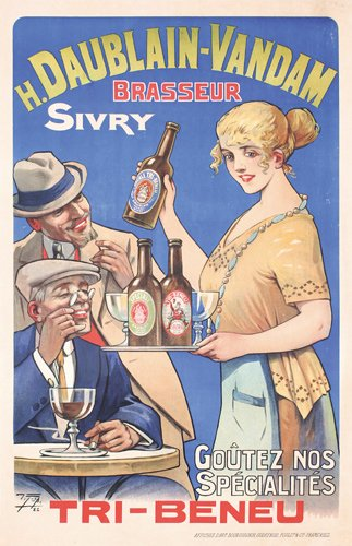 14: ORIGINAL French Beer Poster 1920s