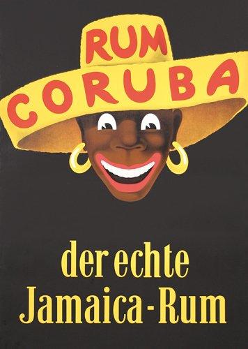 16: Original 1950s Poster Jamaica Rum Coruba