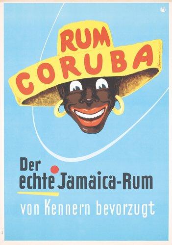 19: Original 1950s Poster Jamaica Rum Coruba