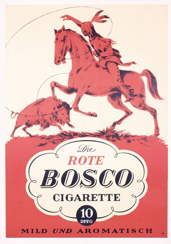 24: Original Poster Rote Bosco Cigarette Indian