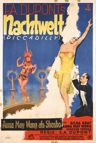 155: Original Poster Piccadilly 1920s ANNA MAY WONG