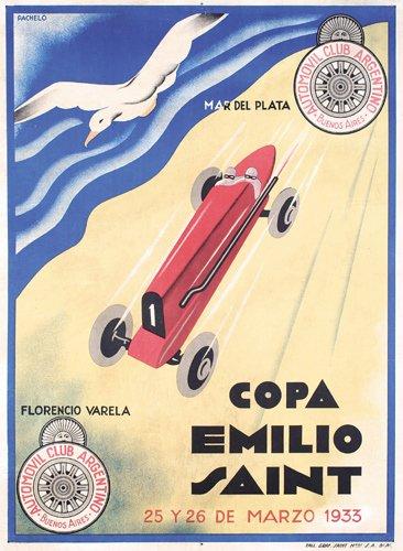 187: ORIGINAL Poster Copa Emilio Saint Auto DESIGN