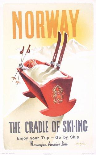 193: Original Poster Norway Cradle of Skiing