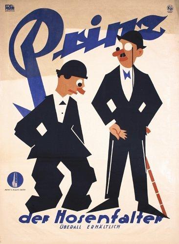 1: Old Original Poster Prinz der Hosenfalter 1920s