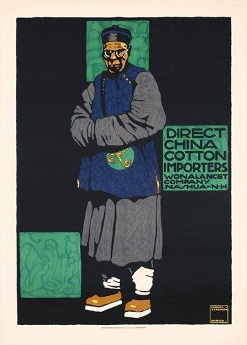 2: RARE Original HOHLWEIN Poster 1906 China Cotton