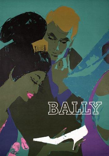 3: Old Original Bally Poster DONALD BRUN