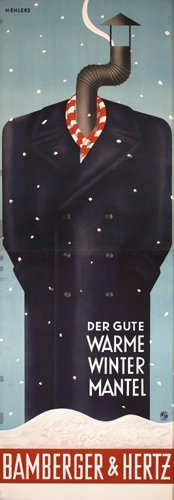 4: STUNNING Original Bamberger Poster EHLERS 1930