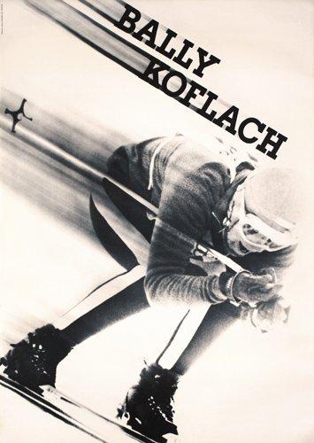 6: Original Bally Ski Poster 1960s