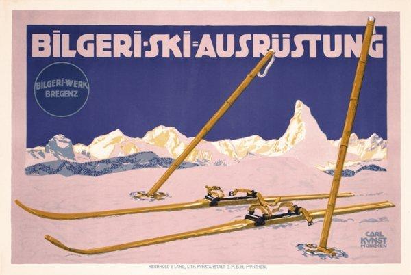 10: Original Bilgeri Ski Poster 1910s