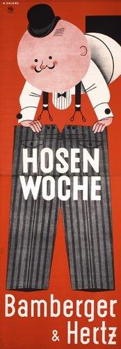 11: Old Original Bamberger Clothing Poster 1930