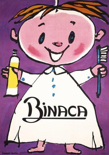 13: Original HEBERT LEUPIN Poster BINACA