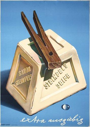 15: Old Original LEUPIN Poster STEINFELS 1940s