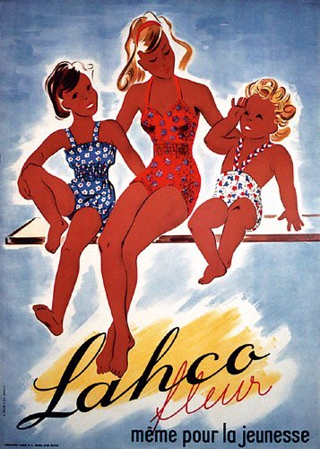 16: Original SWISS Poster Bathing Suits 1940s